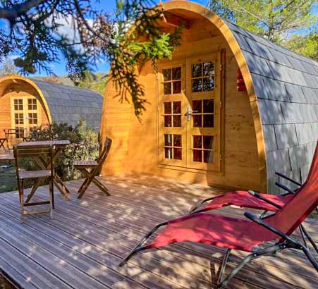 camping pods hautes alpes